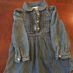 Girls polo denim shirt